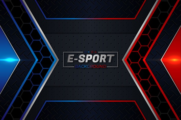 E-sports background red and blue style Premium Vector
