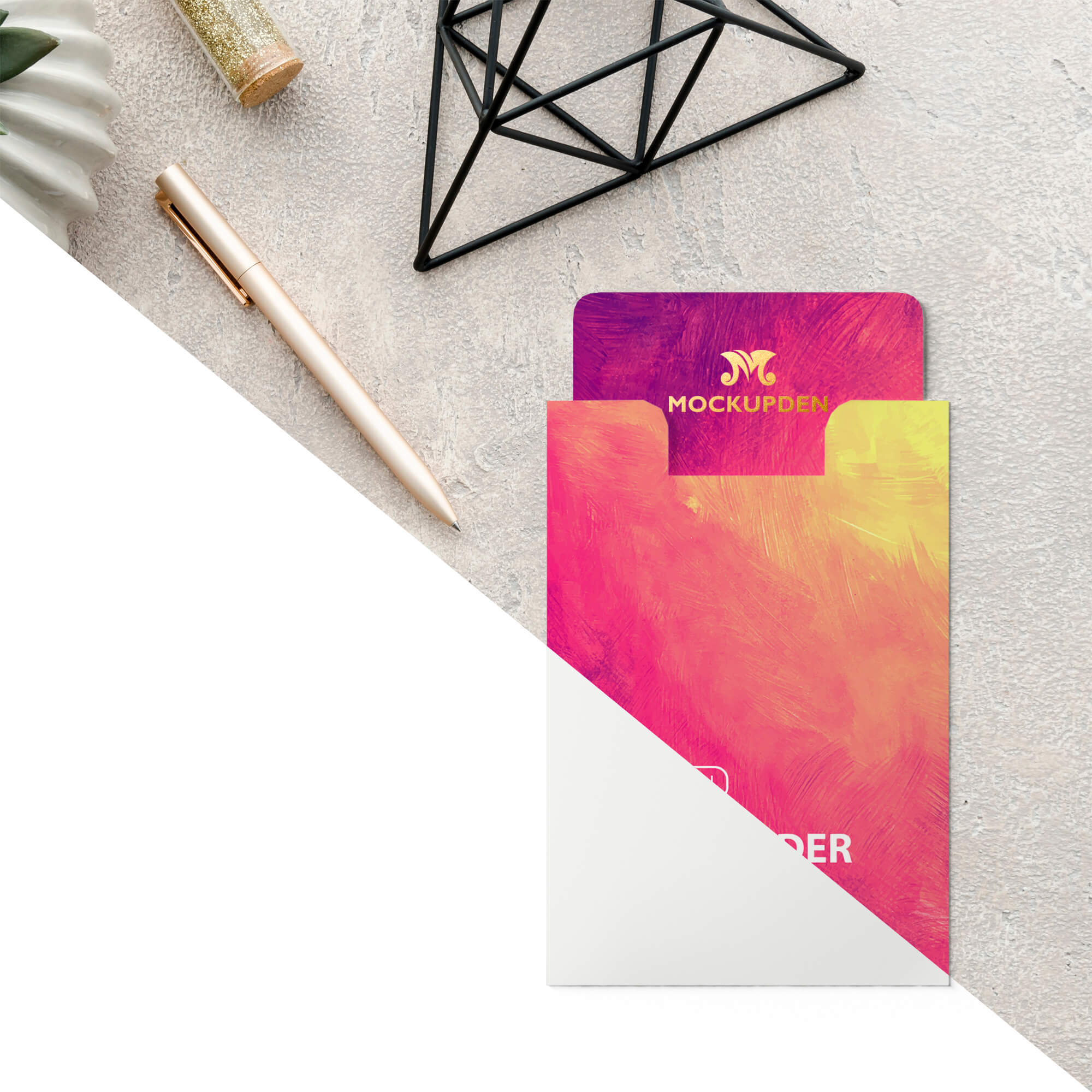 Editable Free Card Holder Mockup PSD Template