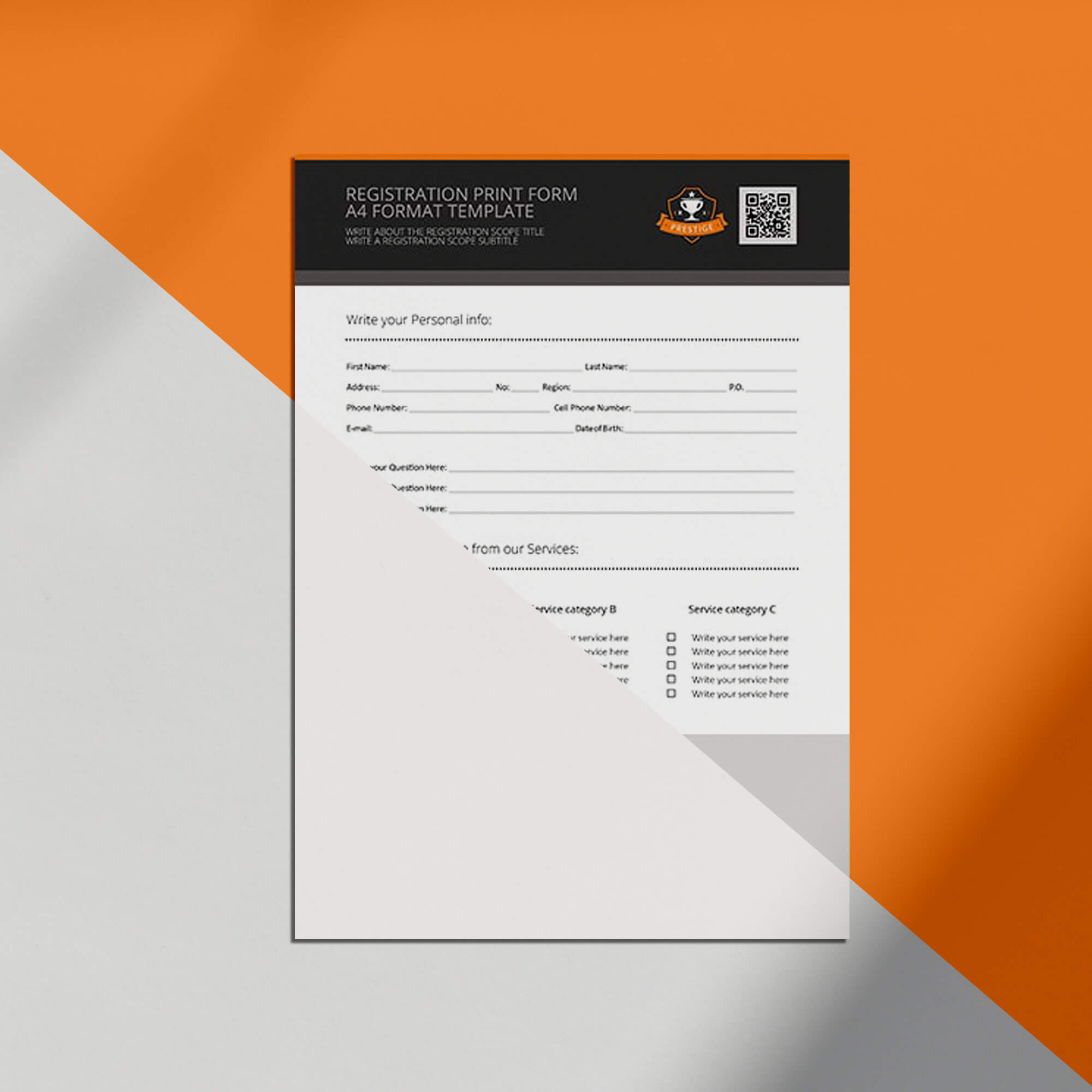 Editable Free Forms Mockup PSD Template