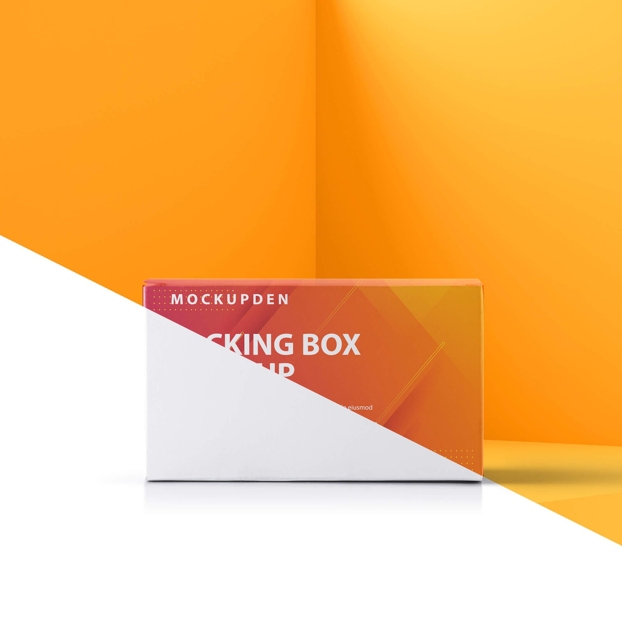 Editable Free Packing Box Mockup PSD Template
