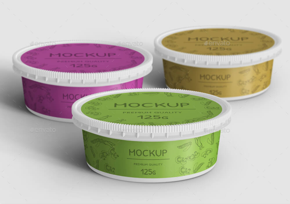 Food Plastic Container Mockup