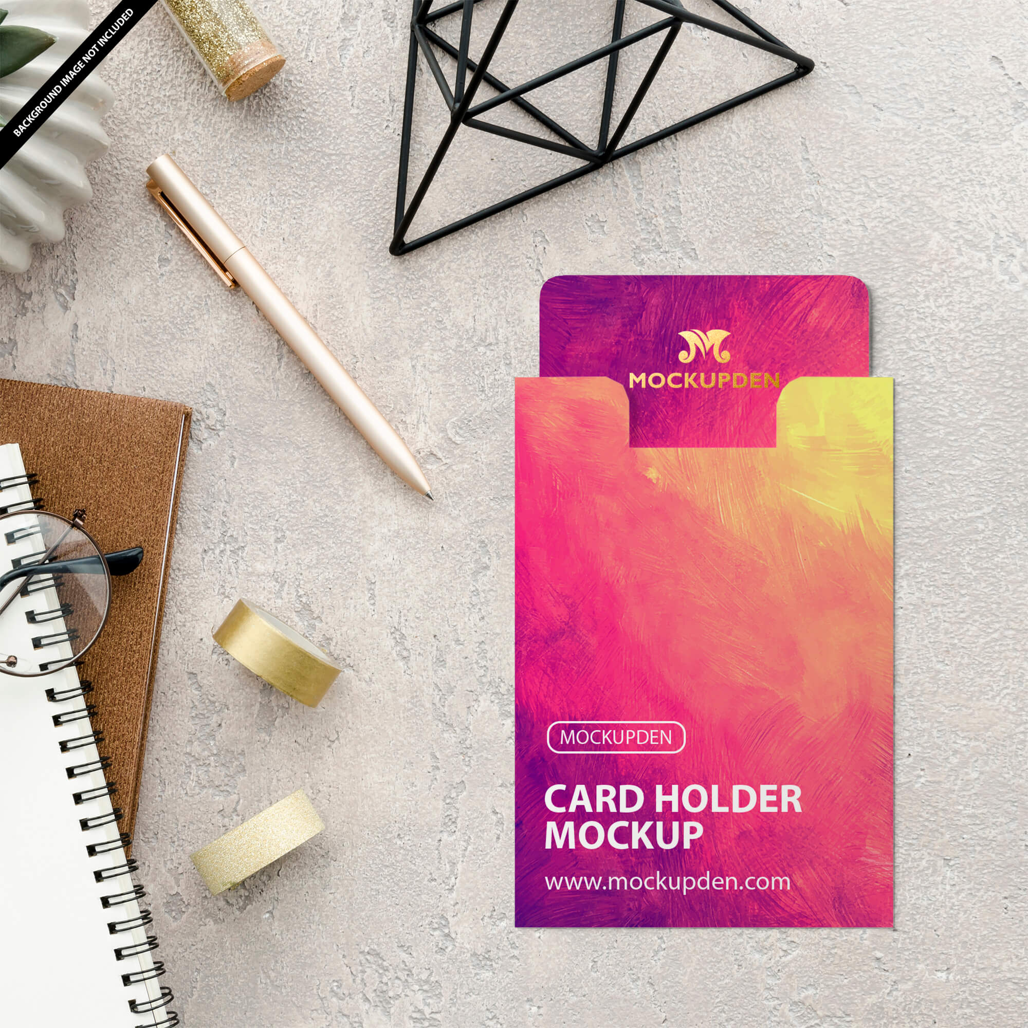 Free Card Holder Mockup PSD Template