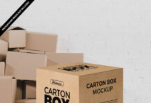Free Carton Box Mockup PSD Template