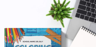 Free Coloring Book Mockup PSD Template