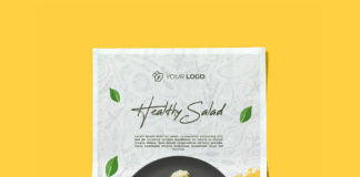 Free Folded Poster Mockup PSD Template