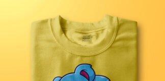 Free Folded T Shirt Mockup PSD Template