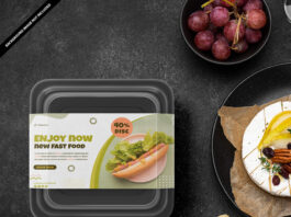 Free Food Container Mockup PSD Template