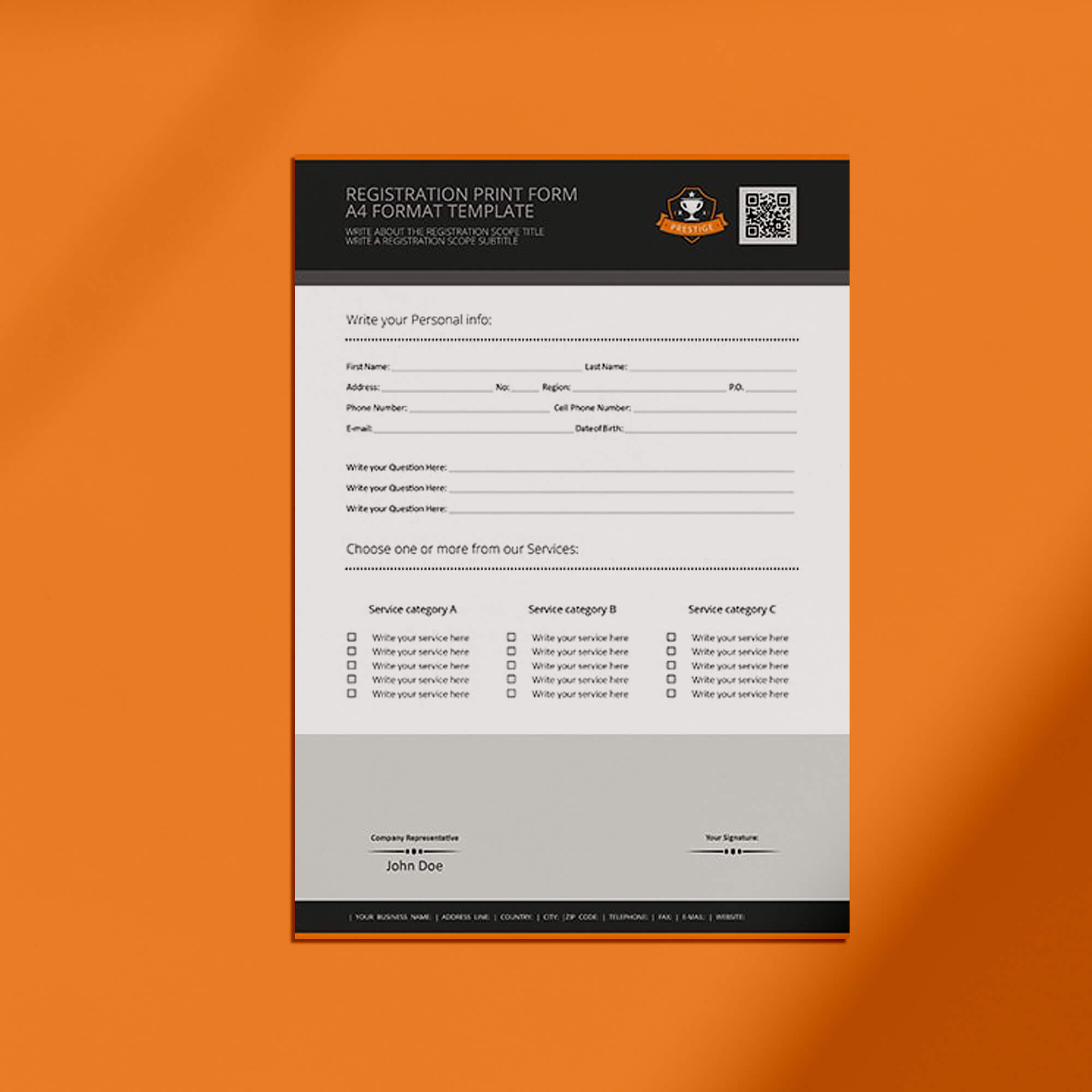 Free Forms Mockup PSD Template