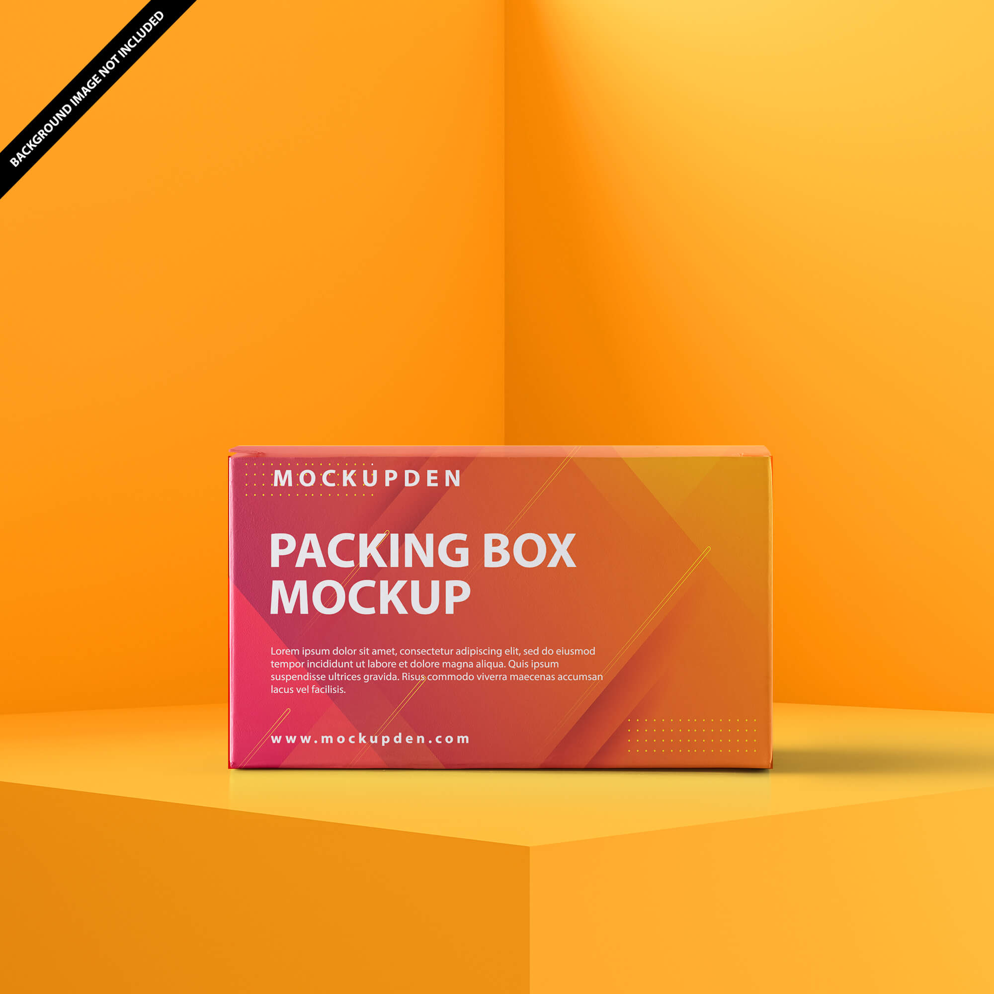 Free Packing Box Mockup PSD Template