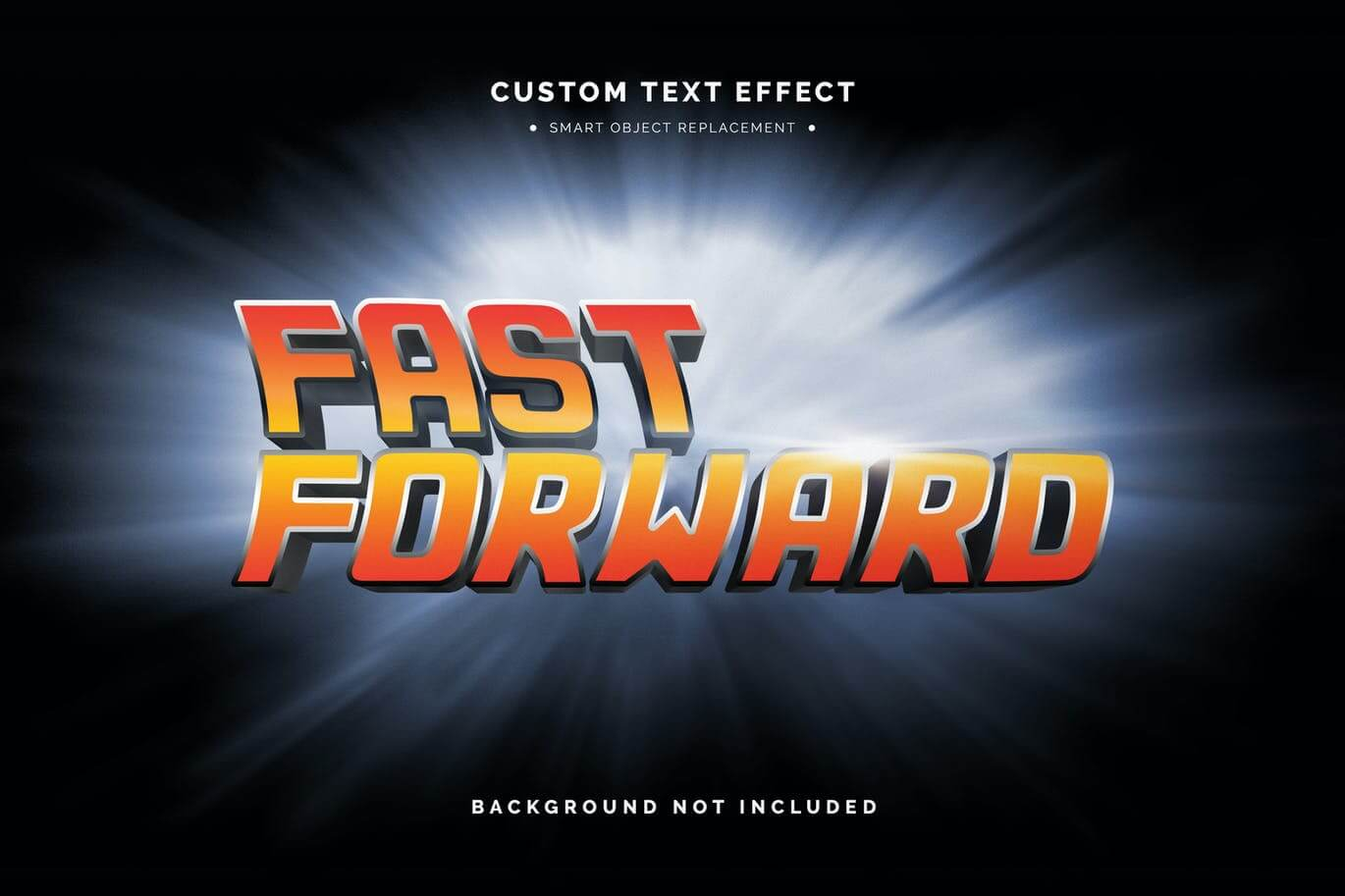 Movie Title 3D Text Effect Mockup