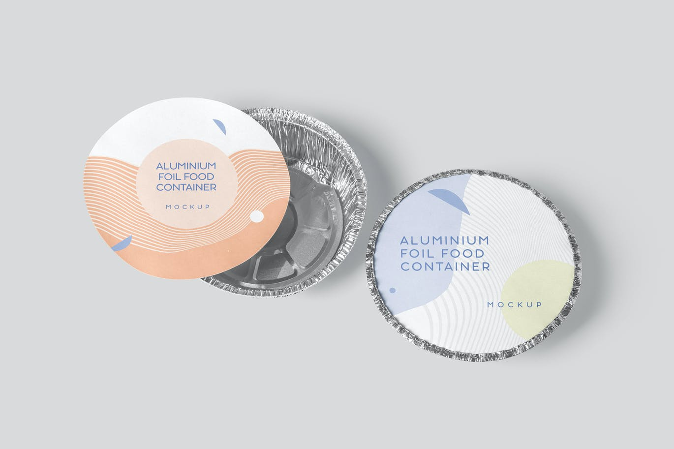 Round Foil Food Container Mockups