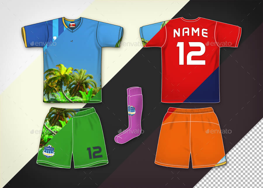 Soccer Football Team Kit – Mock-Up & Designer