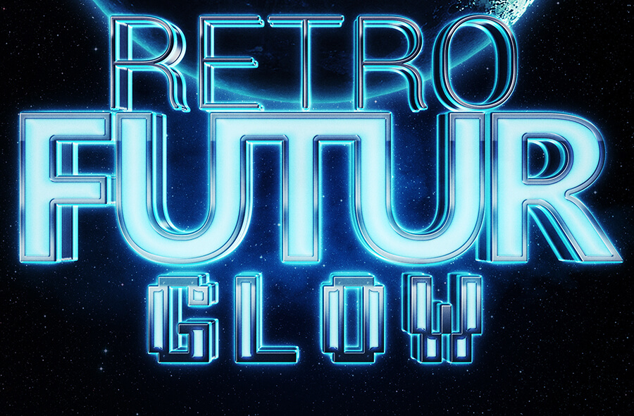Space Glow 3D Text Mockup