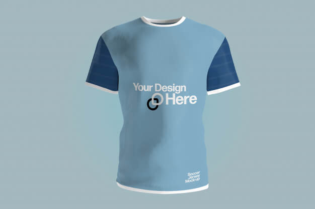 View of a soccer jersey uniform mockup Premium Psd