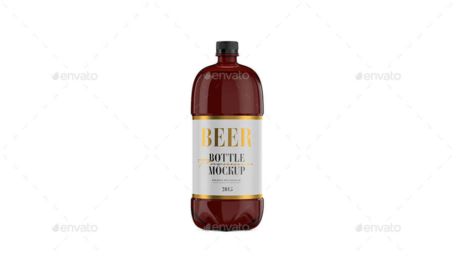 Beer Bottle - Amber PET - Mockup