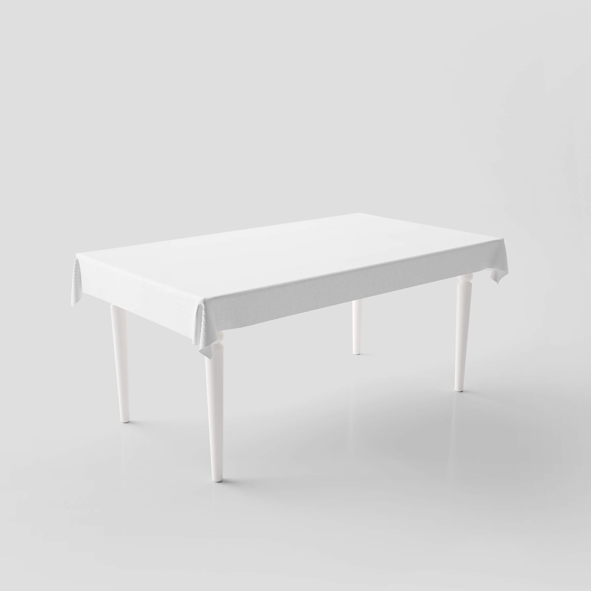 Blank Free Table Cover Mockup PSD Template