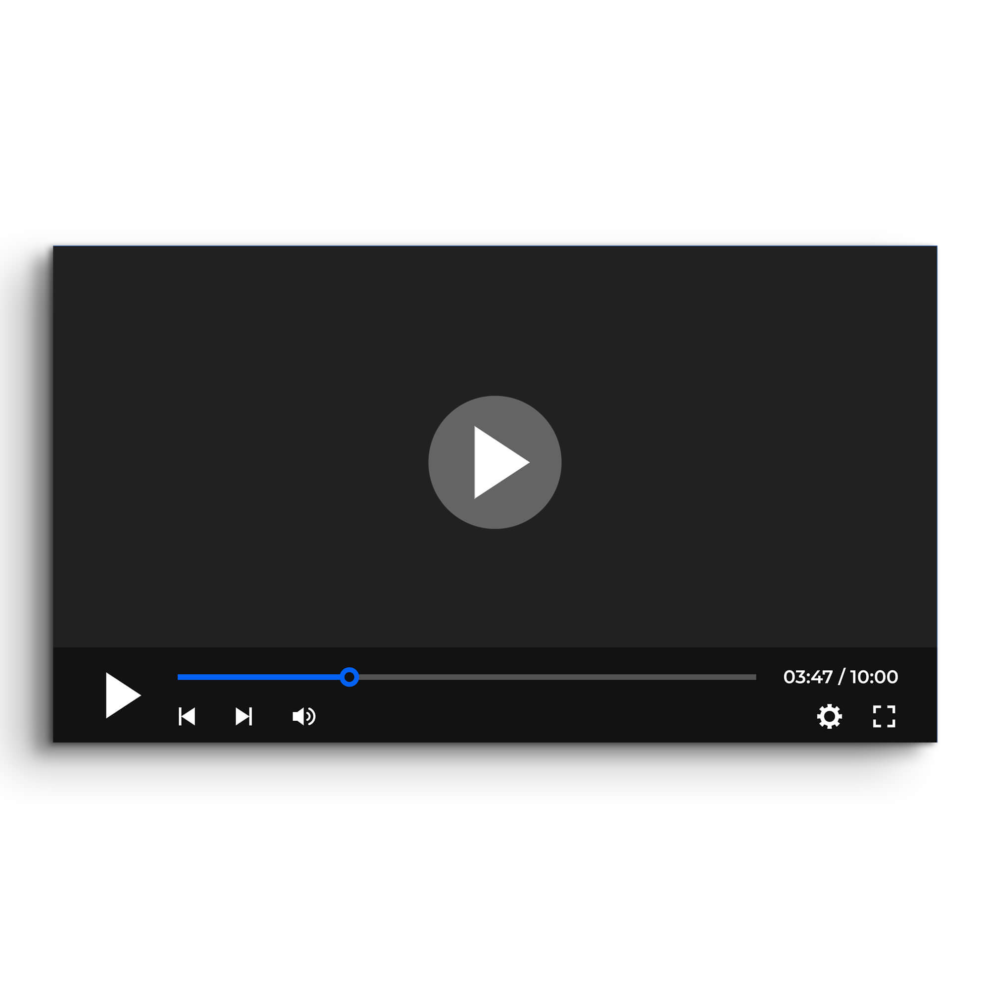 Blank Free Video Player Mockup PSD Template