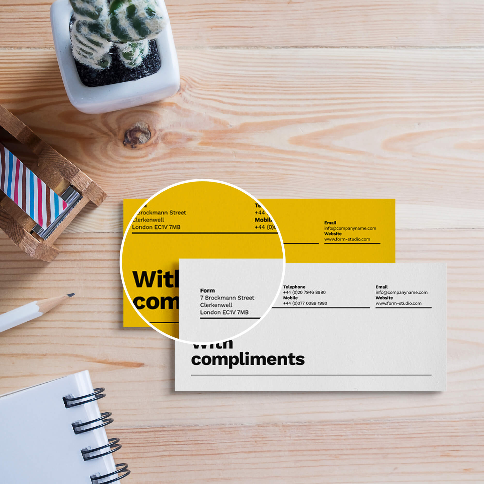 Close Up Of a Free Compliment Slip Mockup PSD Template