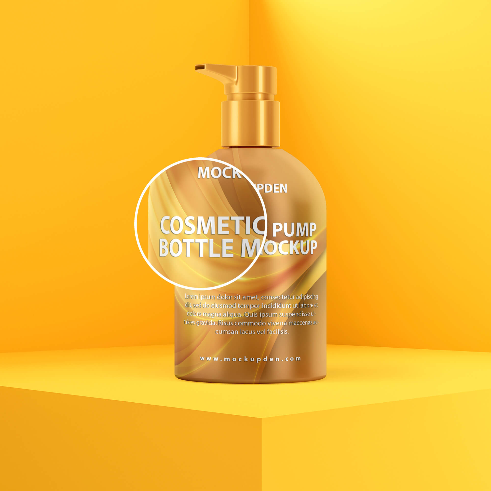 Close Up Of a Free Cosmetic Pump Bottle Mockup PSD Template