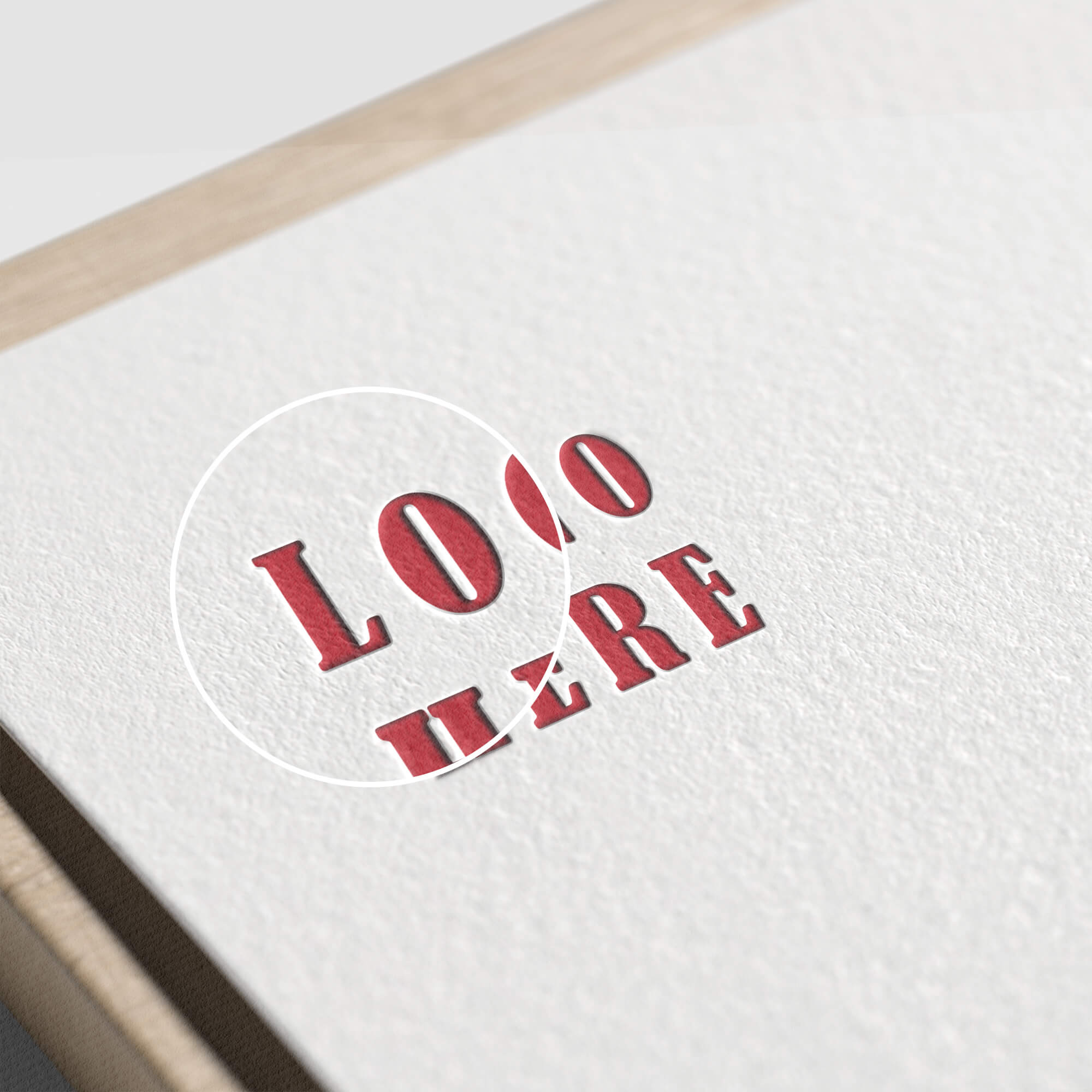 Close Up Of a Free Paper Logo Mockup PSD Template (1)