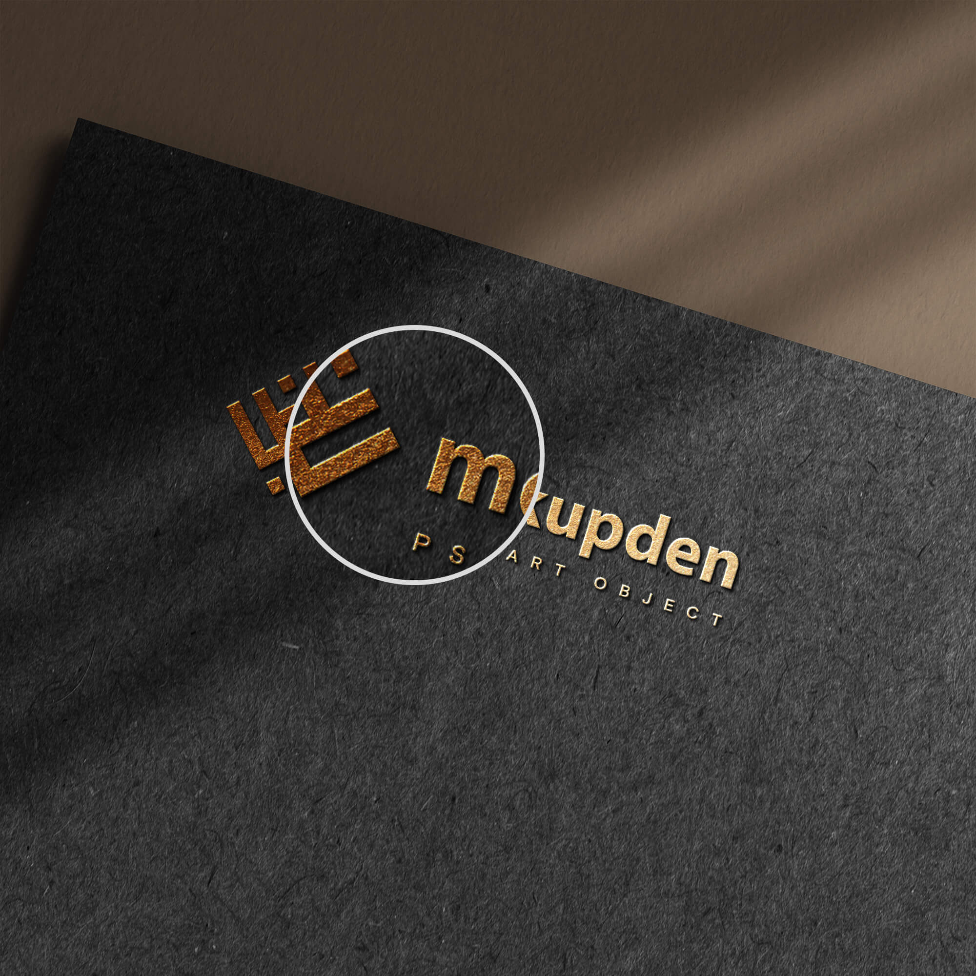 Close Up Of a Free Paper Logo Mockup PSD Template (2)