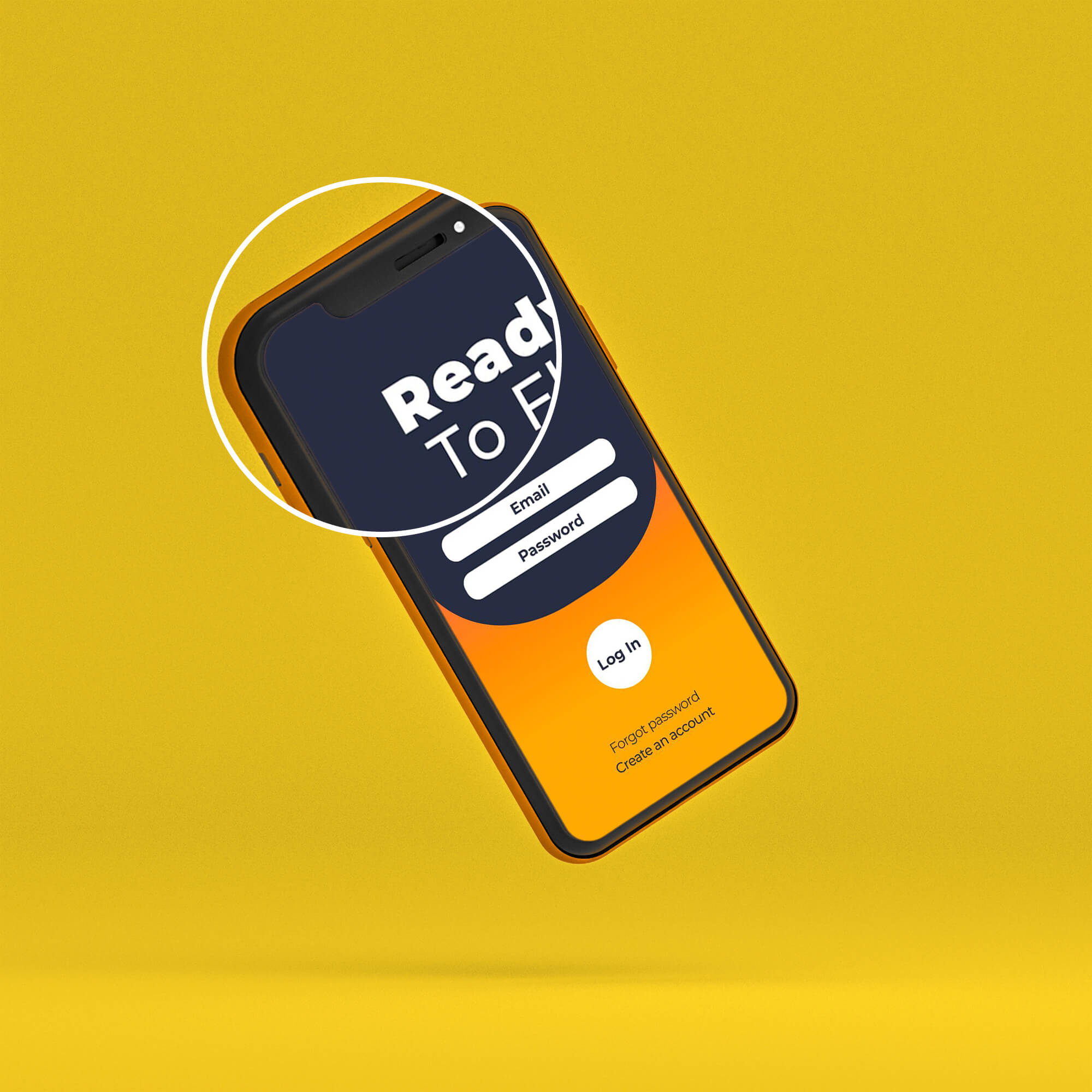 Close Up Of a Free Phone Screen Mockup PSD Template