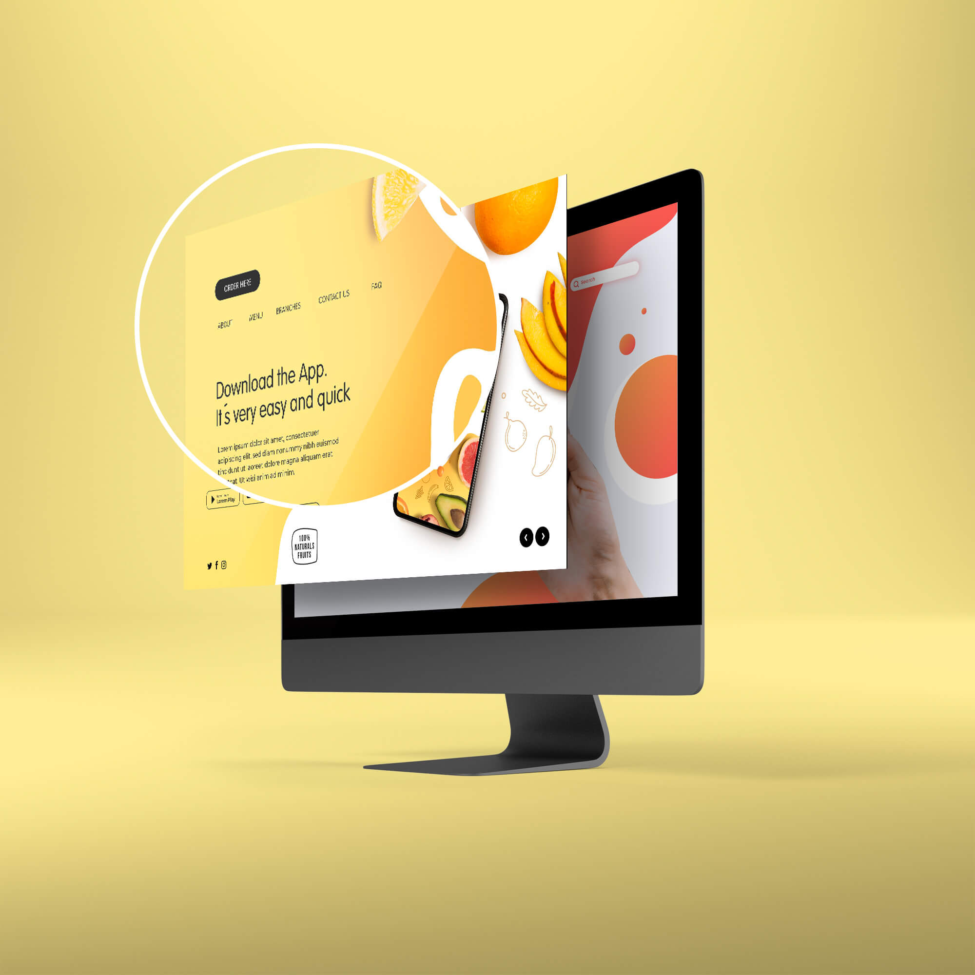 Close Up Of a Free Screen Mockup PSD Template (1)