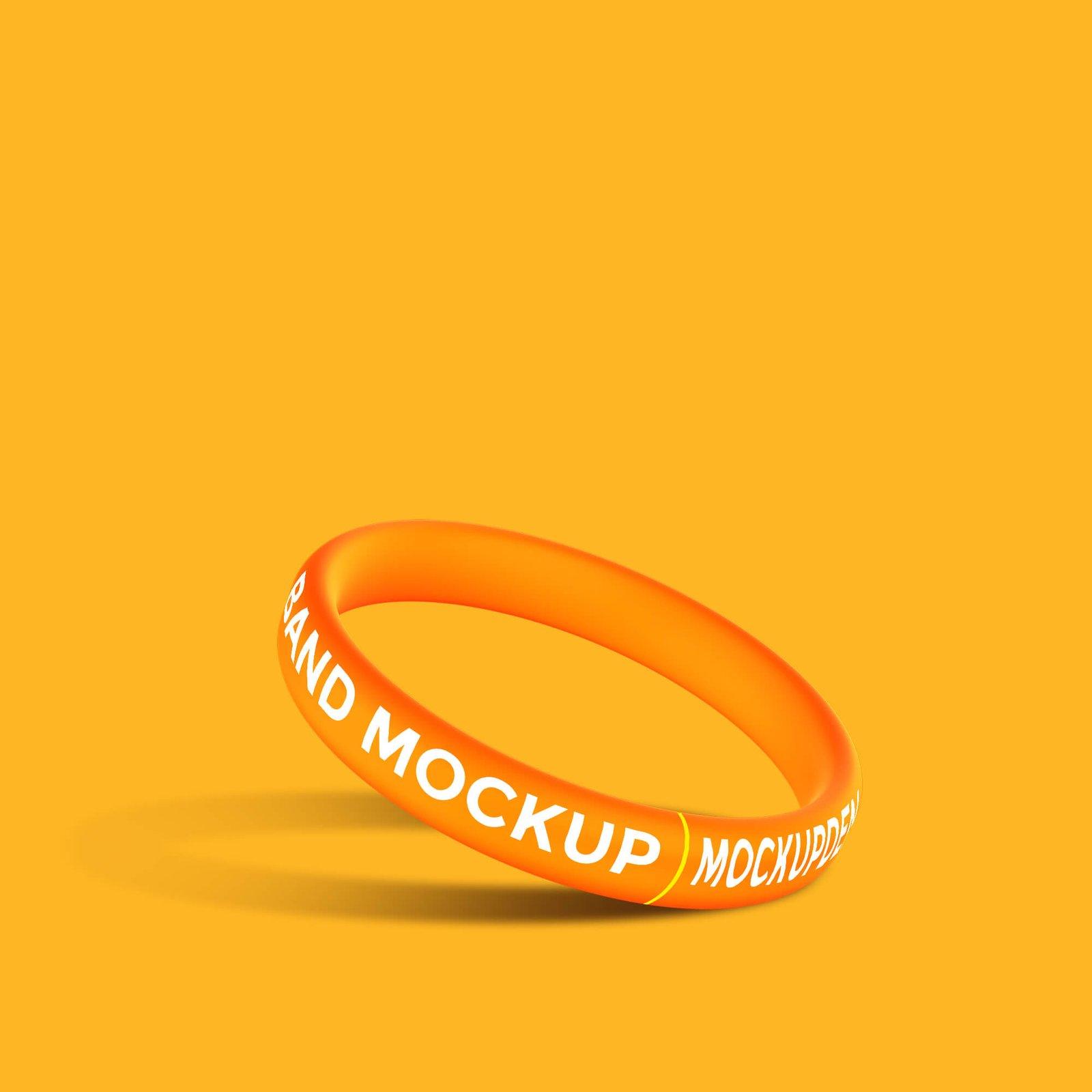 Design Free Band Mockup PSD Template