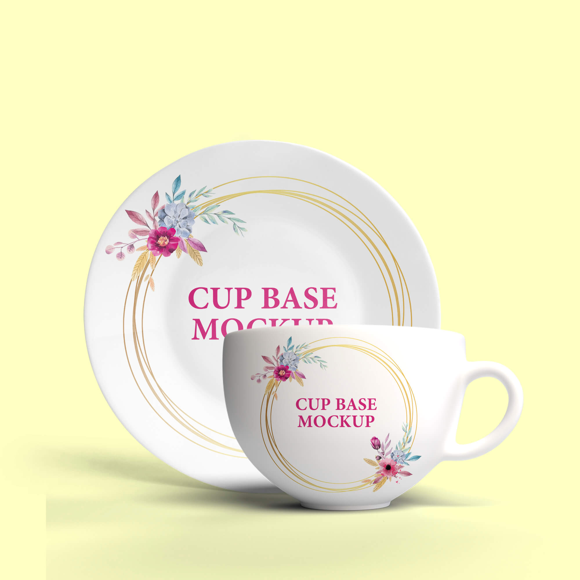 Design Free Cup Base Mockup PSD Template