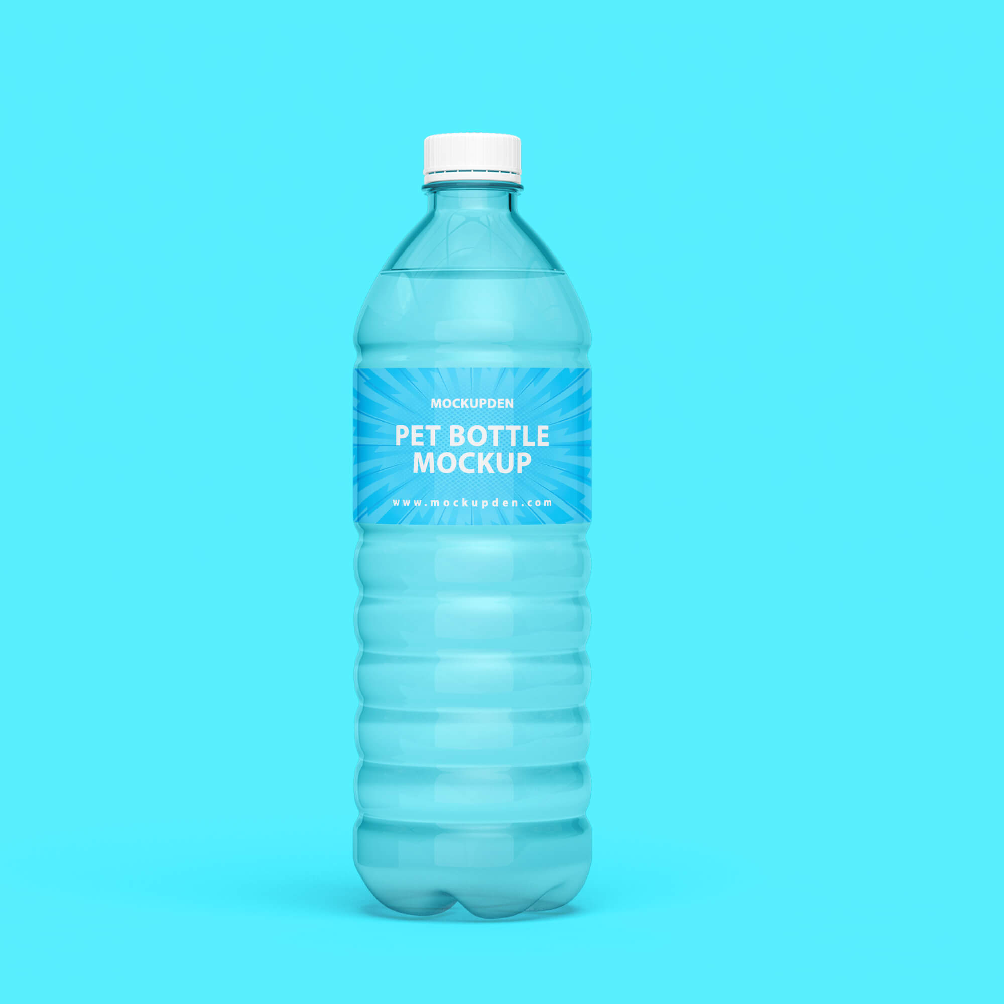 Design Free Pet Bottle Mockup PSD Template