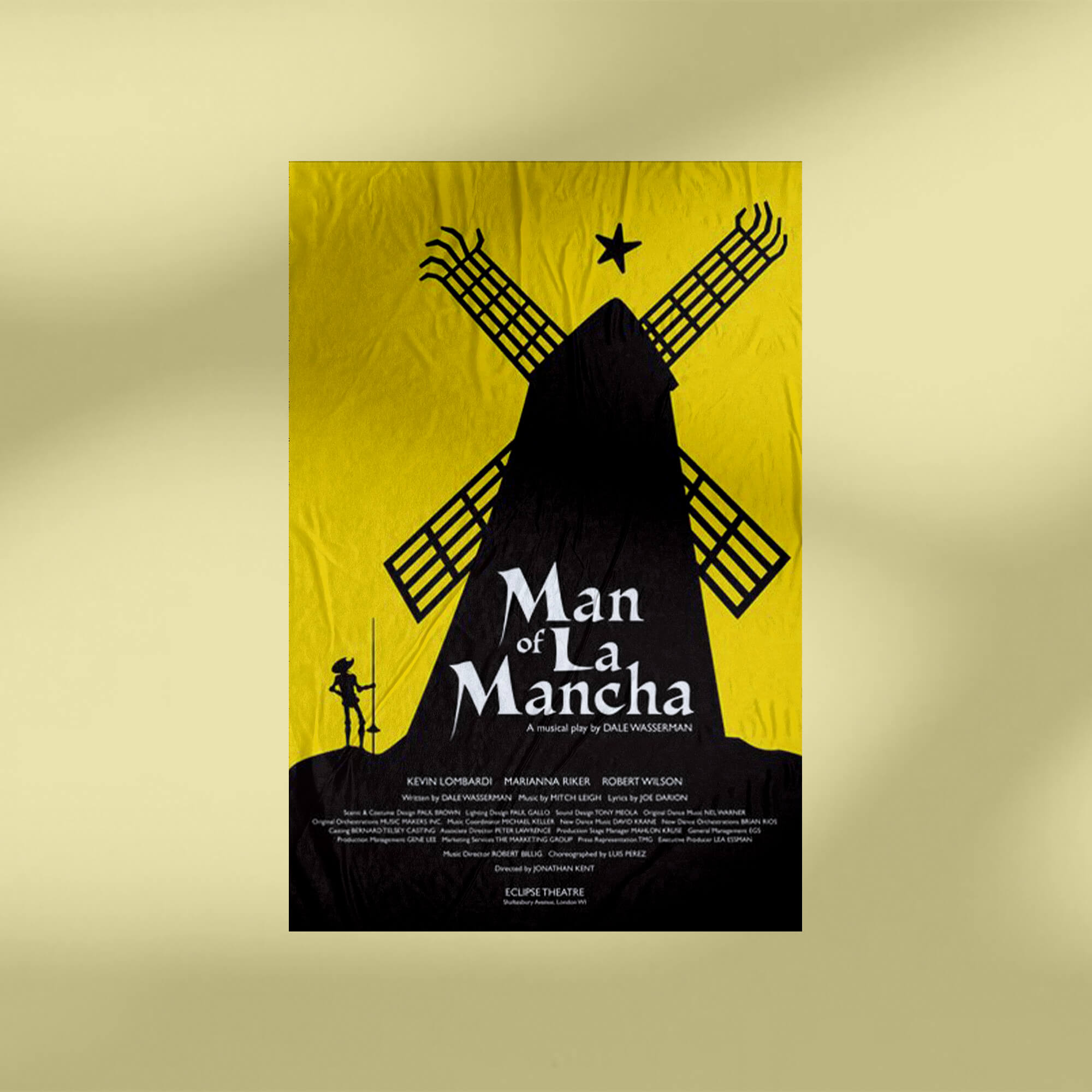Design Free Theater Poster Mockup PSD Template