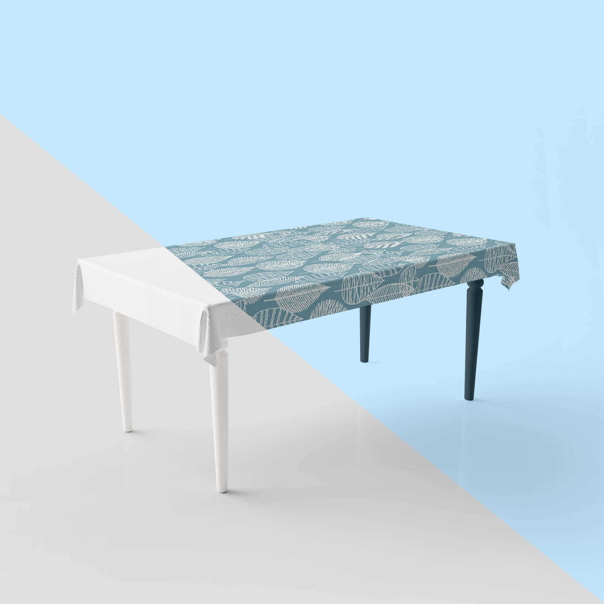 Editable Free Table Cover Mockup PSD Template