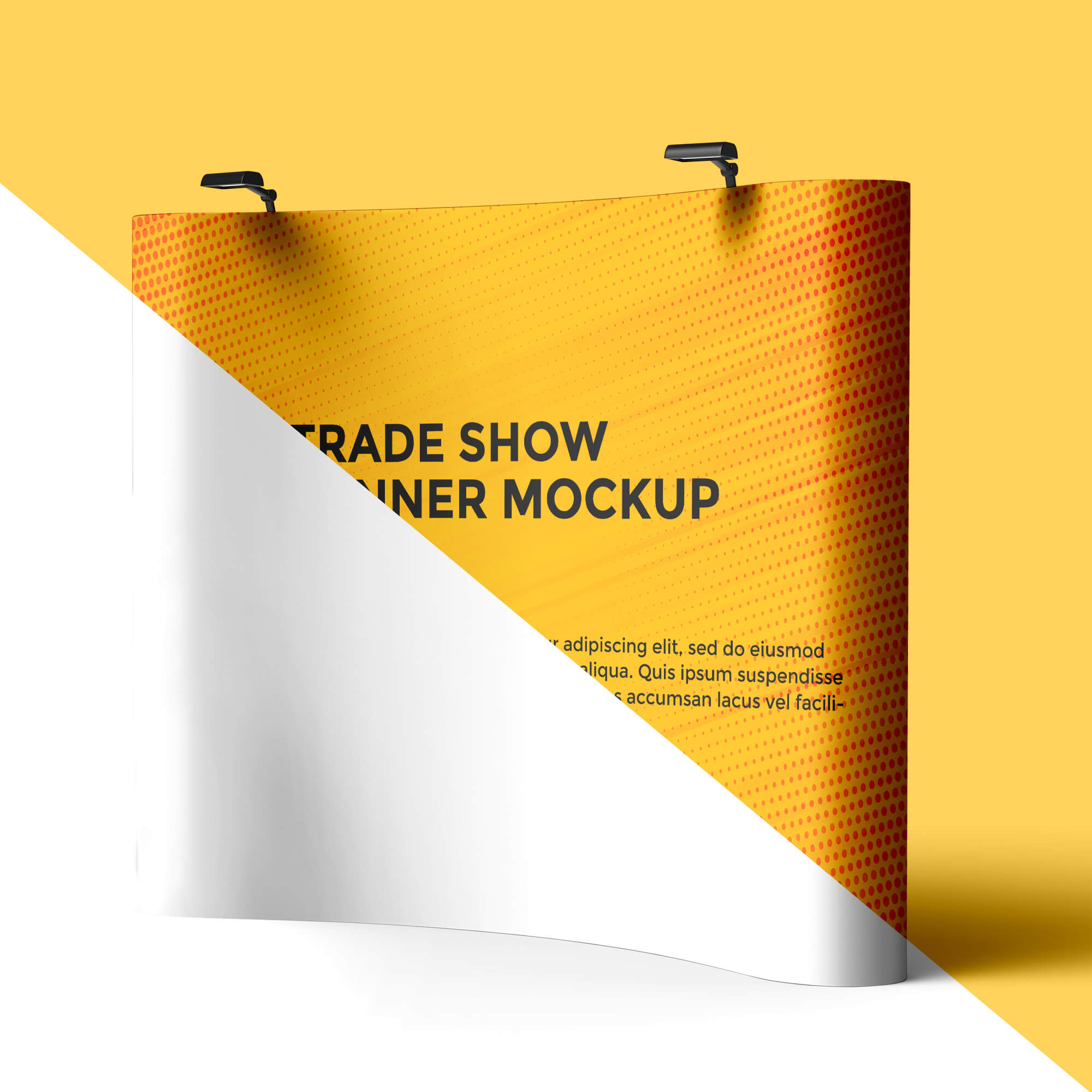 Editable Free Trade Show Banner Mockup PSD Template