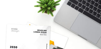 Free A4 Paper Mockup PSD Template