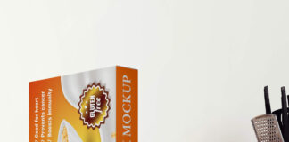Free Cereal Box Mockup PSD Template