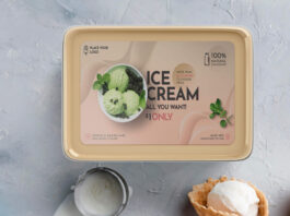Free Ice Cream Tub Mockup PSD Template