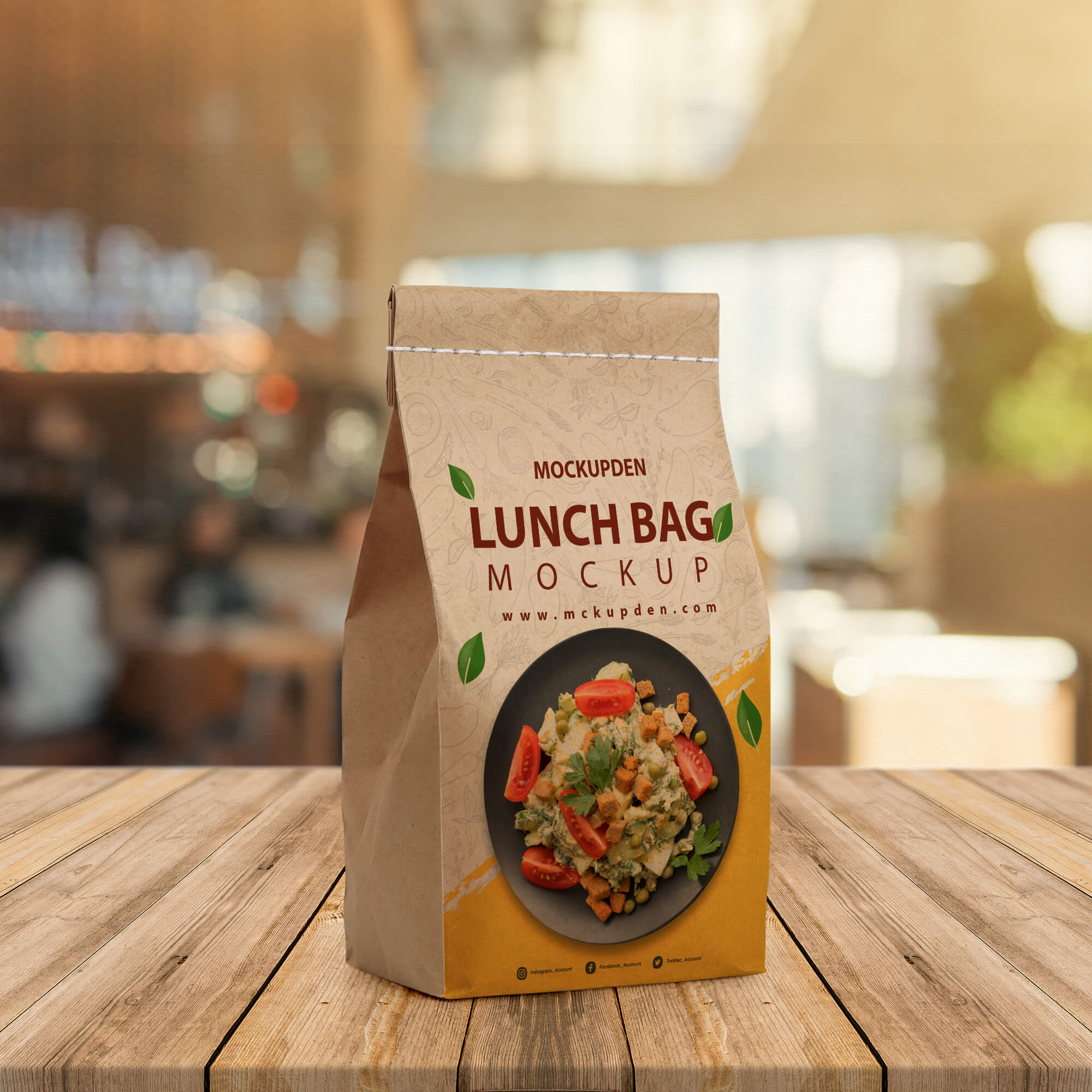 Free Lunch Bag Mockup PSD Template