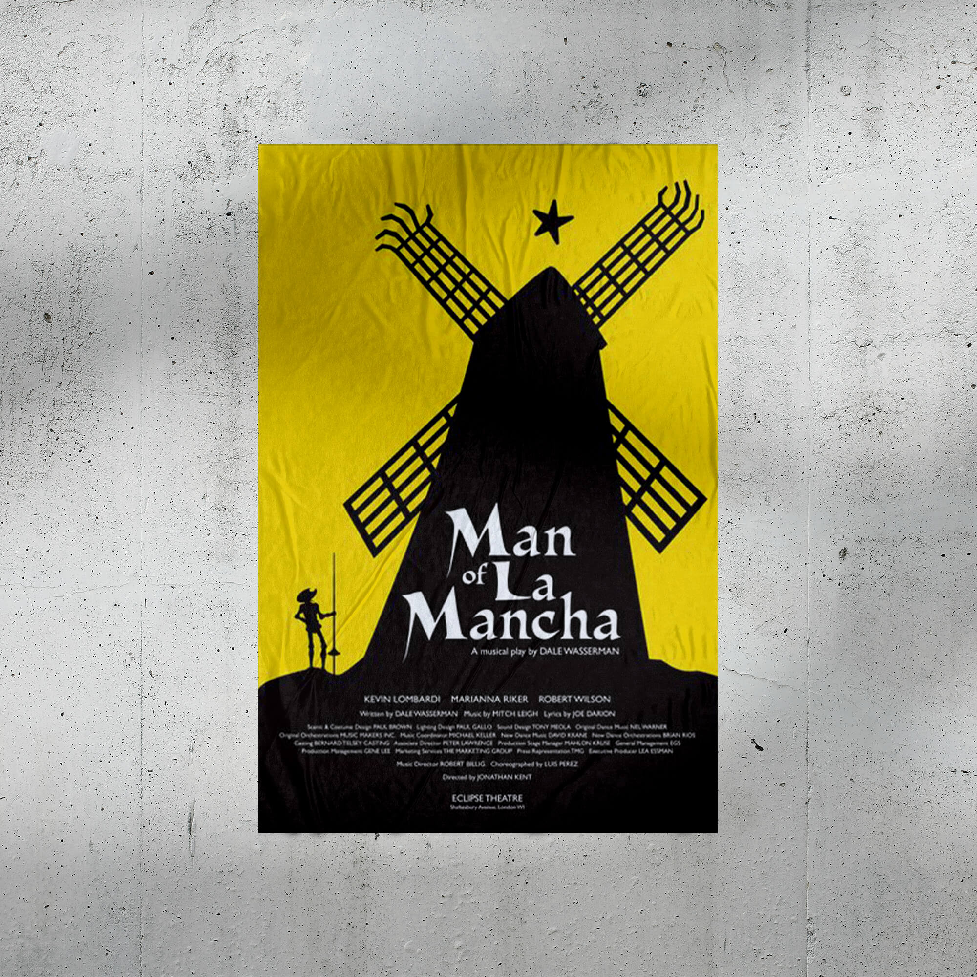 Free Theater Poster Mockup PSD Template