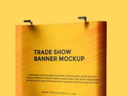 Free Trade Show Banner Mockup PSD Template