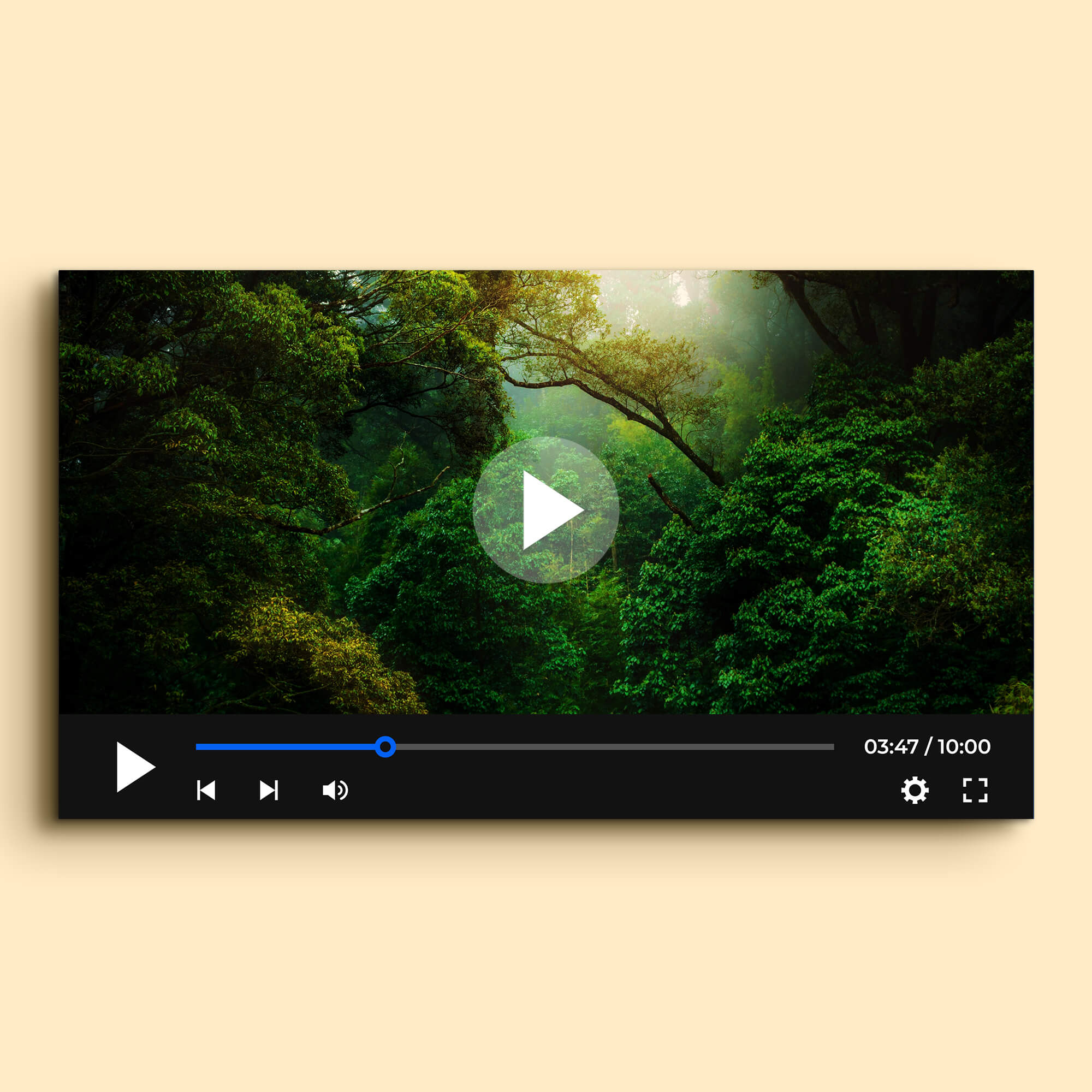Free Video Player Mockup PSD Template