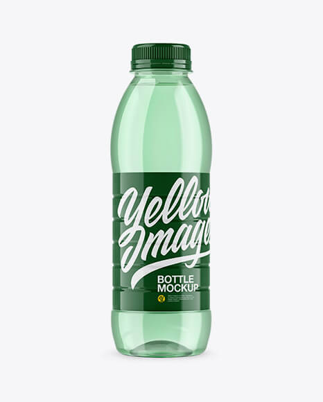 Green PET Water Bottle Mockup