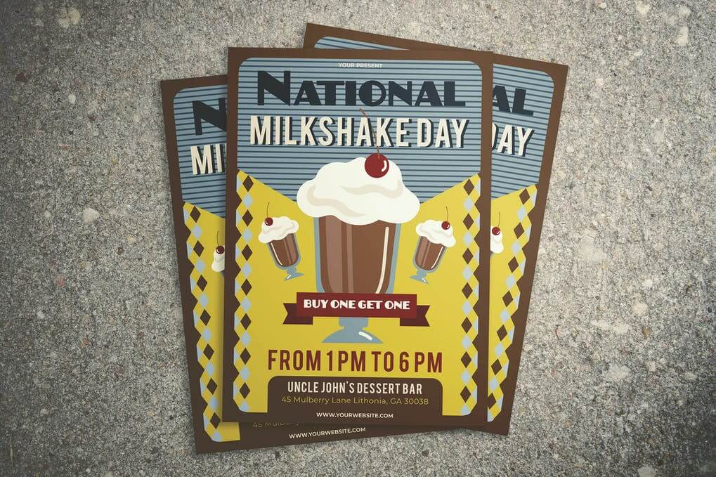 National Milkshake Day Flyer