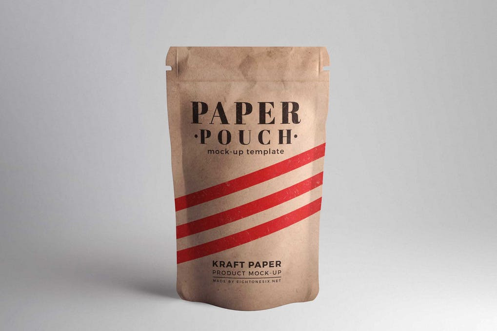 Paper Pouch Product Mock-Up