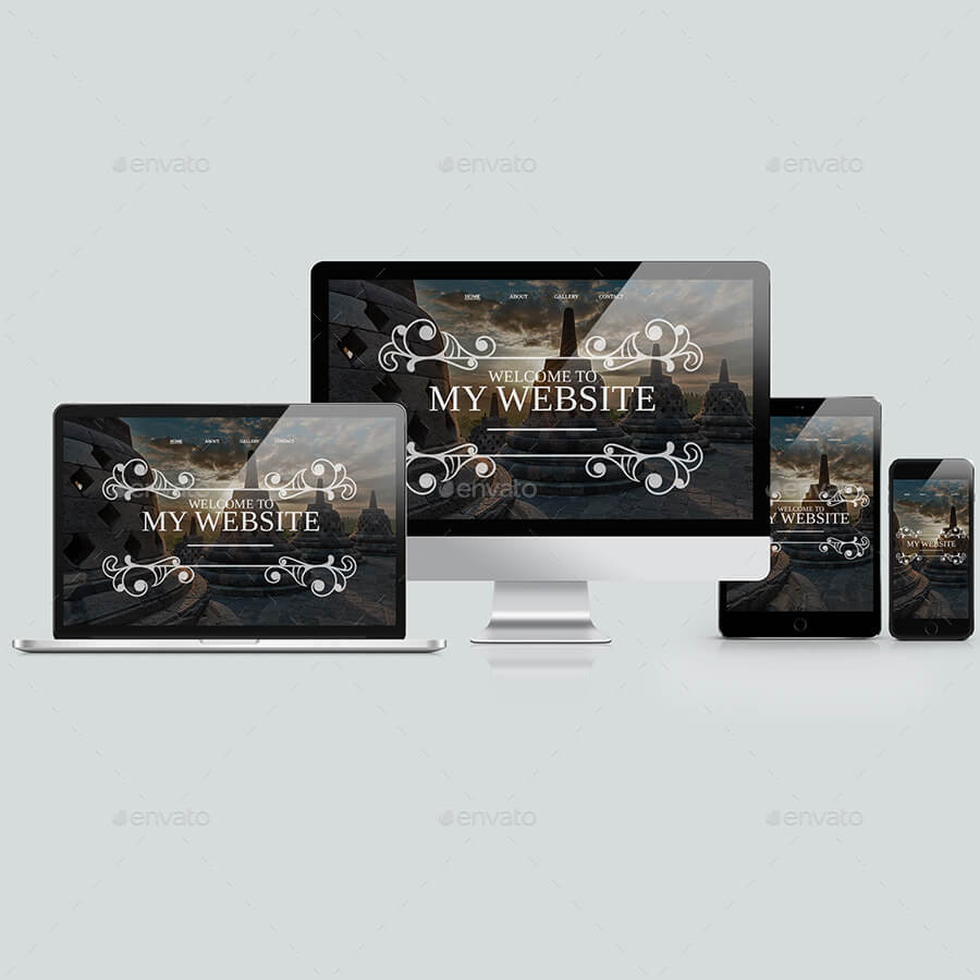 Responsive Mockup Website Screen Devices