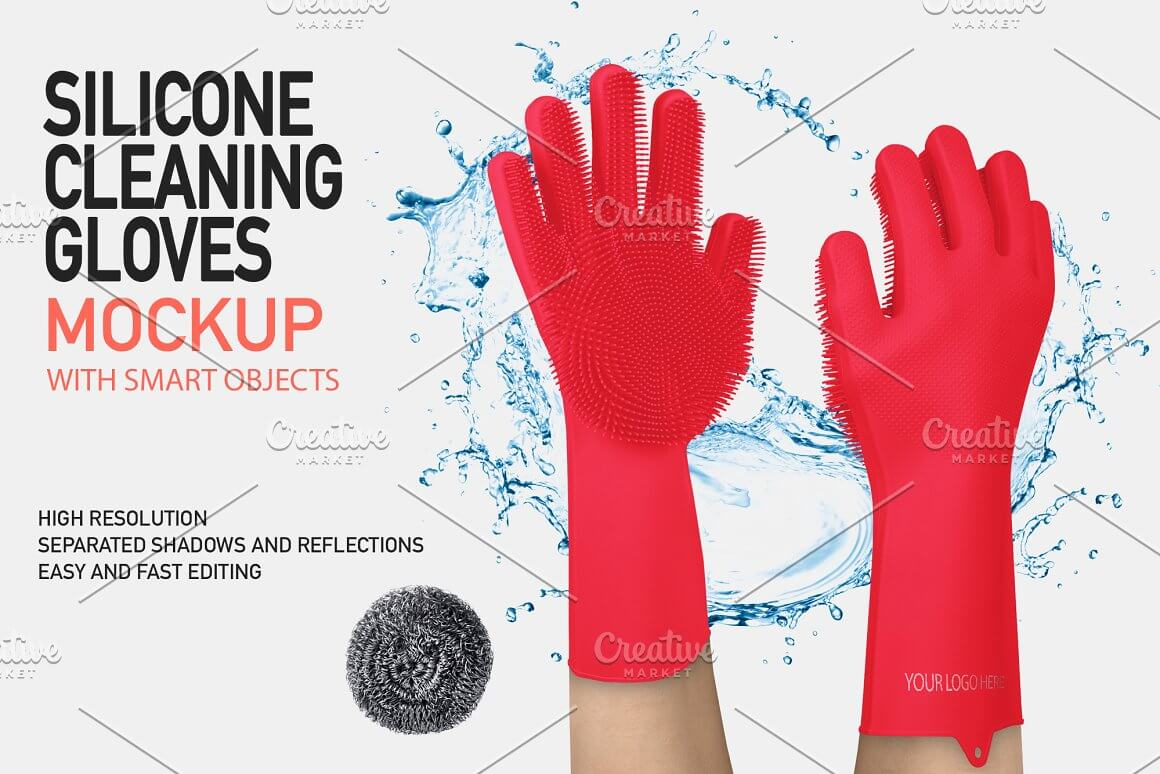 SILICONE GLOVES MOCK-UP (ONLY COLOR)