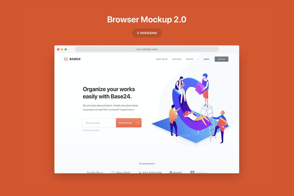 Website Browser Mockup 2.0