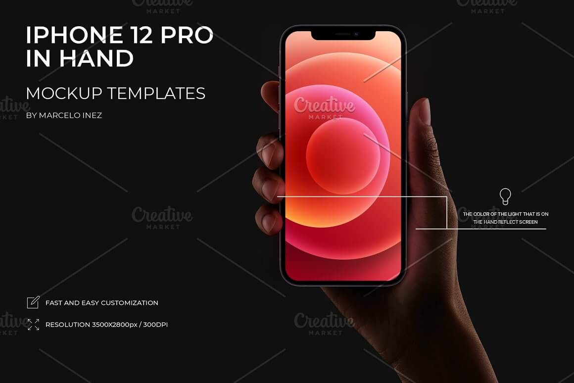 iPhone 12 Pro in Hand Mockup