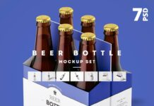 Beer Bottle Mockup Set