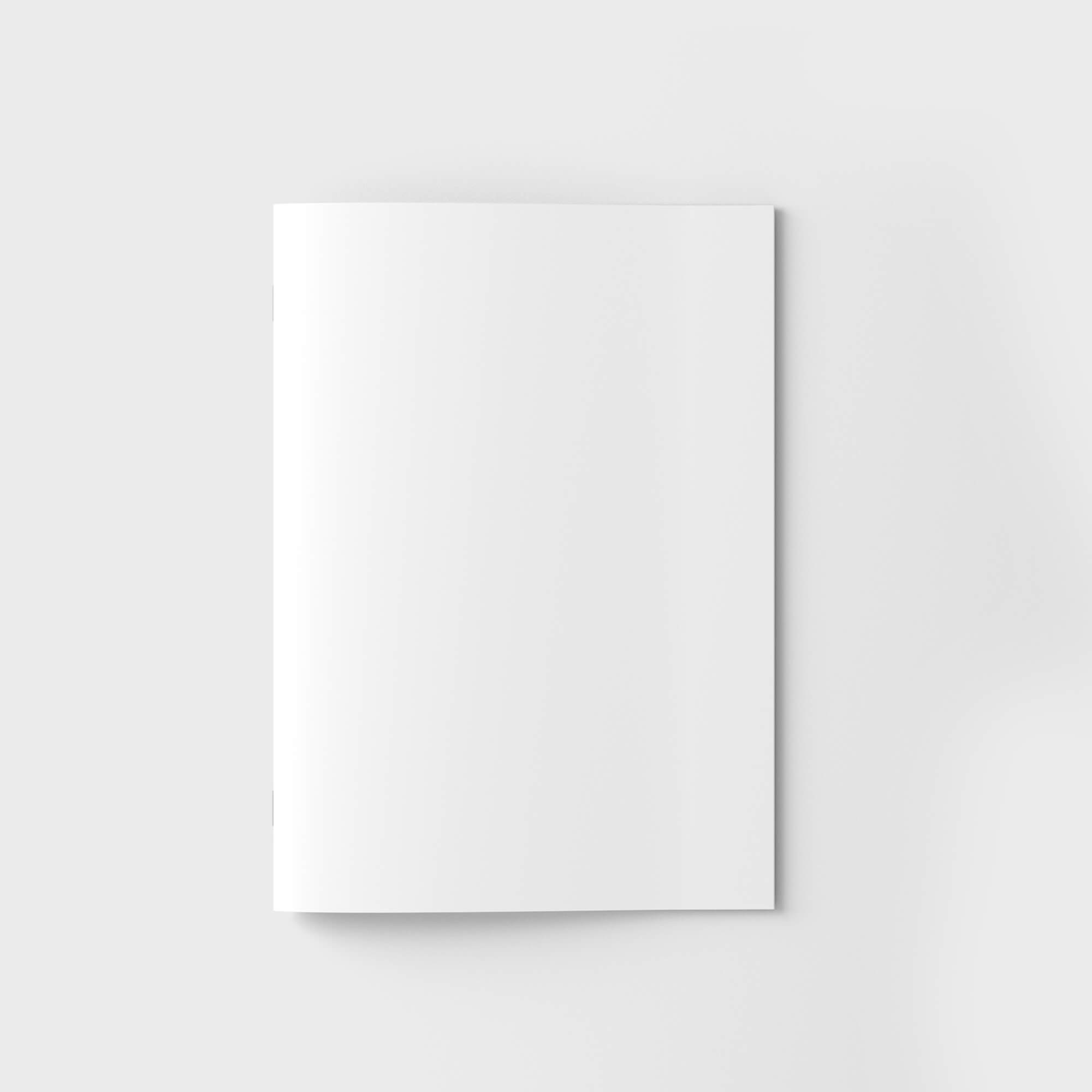 Blank Free Brochure Cover Mockup PSD Template