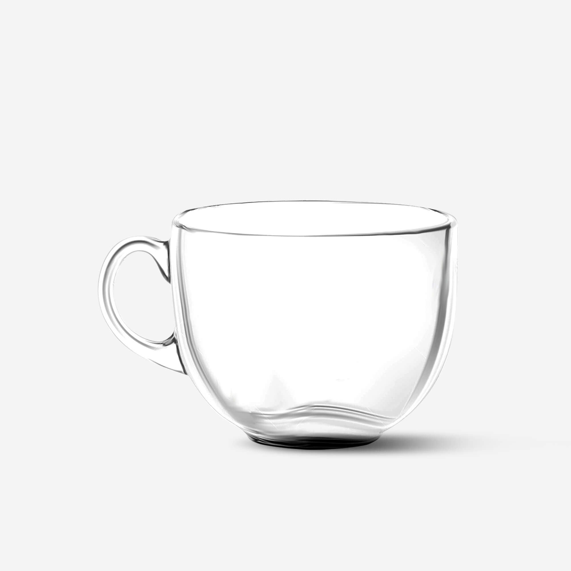 Blank Free Glass Cup Mockup PSD Template